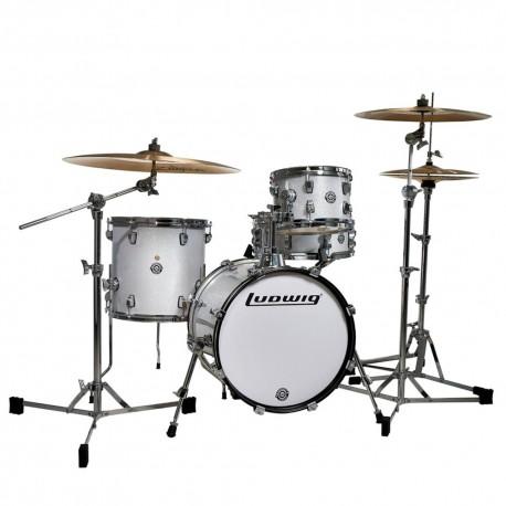 Ludwig LC179X Breakbeats Questlove White Sparkle