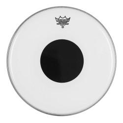 "Remo CS Smooth White  w  top Black Dot™  8"""