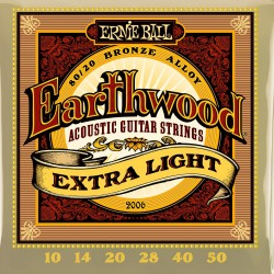 Ernie Ball 2006 Earthwood Extra Light Acoustic 80/20 Bronze