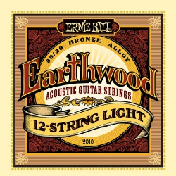 Ernie Ball 2010 Earthwood 12-String Light Acoustic 80/20 Bronze