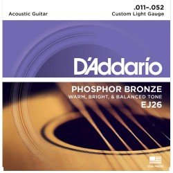 D'Addario EJ26 Phosphor Bronze Custom Light