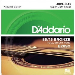 D'Addario EZ890 85/15 Bronze, Super Light, 09-45