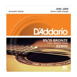 D'Addario EZ900 85/15 Bronze, Extra Light, 10-50