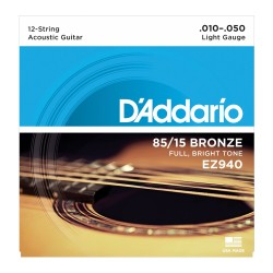 D'Addario EZ940 85/15 Bronze, Light, 10-50