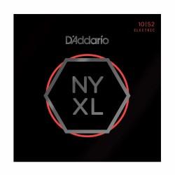 D'Addario NYXL1052 Nickel Wound, Light Top / Heavy Bottom, 10-52